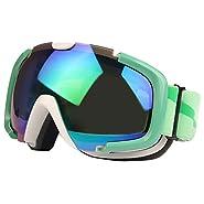 VAXT Maneuver SG-173 Treble Replacement Anti-UV Anti-Fog Lens Skate Ski Snowboard Goggles with Adjustable Non-Slip Strap