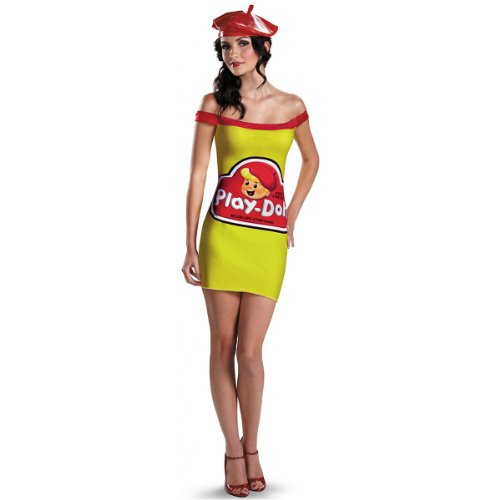 (Disguise Hasbro Games Play Doh Womens Classic Adult Costume, Red/Yellow,)