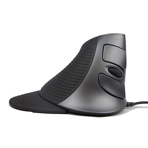 Usb Scroll (J-Tech Digital Scroll Endurance Wired Mouse Ergonomic Vertical USB Mouse with Adjustable Sensitivity (600/1000/1600 DPI), Removable Palm Rest & Thumb Buttons - Reduces Hand/Wrist Pain (Wired))