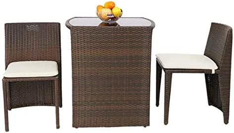 Furniture Set 13 Piece Rattan Chairs Cushion Glass Coffee Table