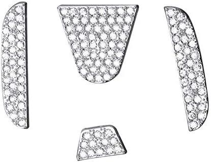 [해외]MAXMILO 자동차 인테리어 블링 스티어링 휠 액세서리 혼다 액세서리 블링 시빅 어코드 핏 CRV HRV 파일럿 Odyssey 투명도 커버 인테리어 장식 트림 여성용 3D 라인스톤 데칼 커버 / MAXMILO 자동차 인테리어 블링 스티어링 휠 액세서리 혼다 액세서...
