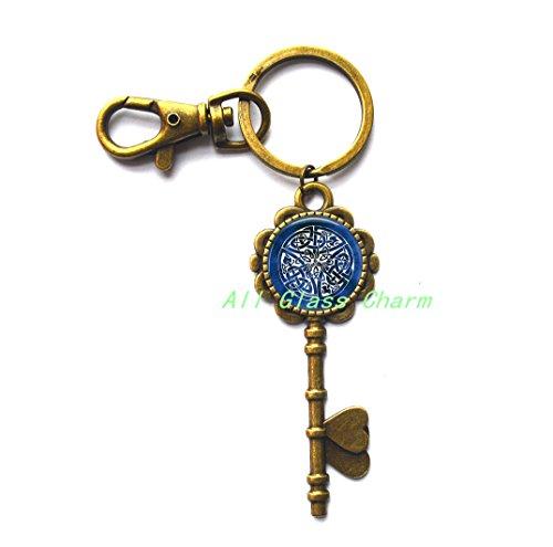 Charming Key Keychain,Celtic Knot Key Keychain Key Key Ring - Something Blue - Celtic Wedding - Bride Key Key Ring - Celtic Jewelry - Celtic Knot Jewellery,AS076