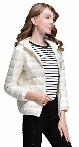 Generic Women's Light Packable Packable Puffer Down Coat White