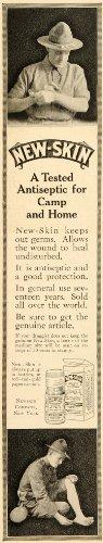 1918-ad-new-skin-antiseptic-drug-newskin-medicine-camp-original-print-ad