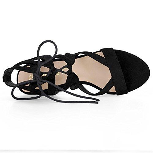 Lace 01 Ups Women Crisscross Heel K Allegra Chunky Black fgWAnv