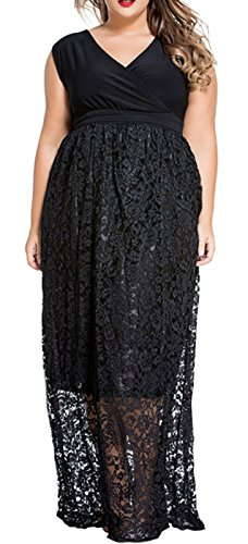 Wool Satin Sheath Dress (IF FEEL Women's Sexy V Neck Belt Floral Lace Cocktail Club Party Maxi Dress - Black Size)