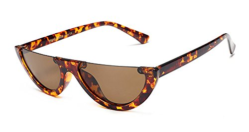 Clout Goggles Cat Eye Sunglasses Half Frame Bold Retro Mod New Candy - Frame Full Frame Half Glasses Or