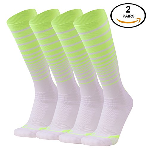 15-20mmHg Compression Socks, SocksDaze Men's Women's Graduated Athletic Fit for Running, Nurses, Shin Splints, Flight Travel, & Maternity Pregnancy, Boost Stamina, Circulation & Recovery 1/2/3 Pairs