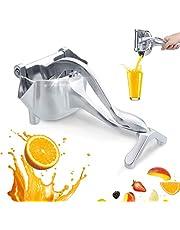 CHARMINER Stainless Steel Manual Fruit Juicer, Alloy Lemon Squeezer, Stainless Steel Lemon Orange Juicer Hand Press Detachable Extractor Tool for Oranges Lemons for Home