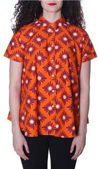 ASPESI Aspessi - Camisa de Mujer con Flores, Fondo Naranja, 38: Amazon.es: Deportes y aire libre
