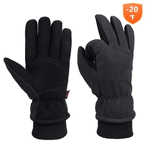 - Winter Cold Weather Gloves Waterproof Genuine Deerskin Leather Cold Resistance -20℉
