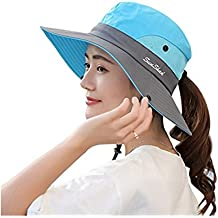 ZZLAY Wide Brim Sun Fishing Hats UV Protection Beach Foldable Caps for Women