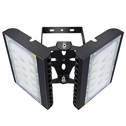 LED Flood Light Outdoor, STASUN 200W 18000lm Waterproof LED Security Lights with 330°Wide Lighting Area, 6000K Daylight, OSRAM LED Chips, Adjustable Heads, Great for Yard Street Parking Lot
