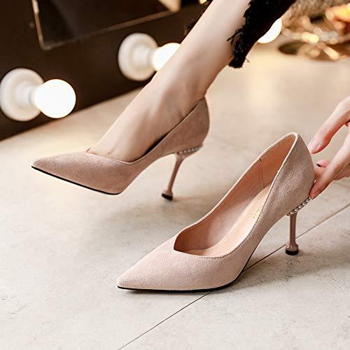 Heels Cat Heels Shoes Single Wild High 7Cm LBTSQ Fresh Pink And Pointy Thin t8xqapp4