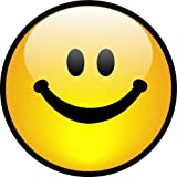 ProSticker 2146 (One) 10.1cm Harmony Series Yellow Smiley Face Decal Sticker