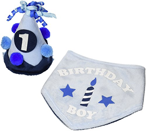 Toby & Company Baby Boy's Toby 2 PC 1st Birthday Set Accessory, dove blue, One Size Toby Set