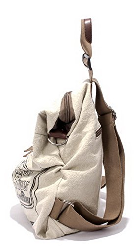 Sacs Blanc Matière bandoulière à Mélangee AgooLar Mode Escalade Charmes Femme qwIIBxzAY