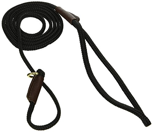 Show Lead Slip Braid - Mendota British Show Slip Lead, Black, 1/8