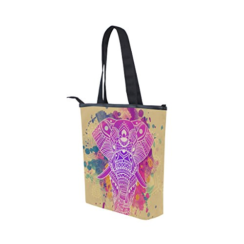 Elephant MyDaily Beautiful Shoulder Bag Canvas Colorful Tote Handbag Womens qawOraX