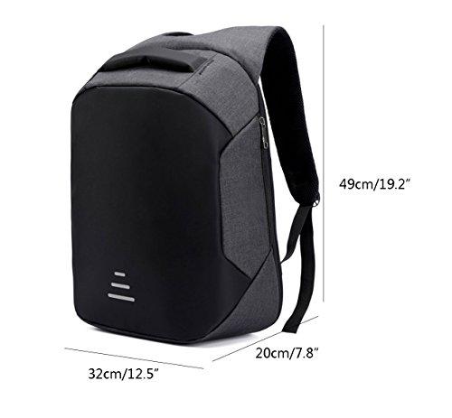 Amazon.com: GDSZ Men Anti Theft Backpack Multifunctional Casual Laptop Backpack with USB Waterproof Travel Computer Shoulder Bag Bagpack School Laptop ...