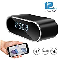 Spy Camera HD 1080P Wifi Hidden Alarm Clock Camera Night...