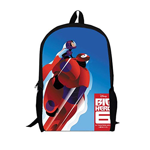 MeMoreCool Unisex School Backpack Bags Big Hero 6 Baymax Personality Backpack Cartoon Casual/Travel Rucksack