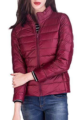 Outwear Vers Slim Manteau Femmes Le Mince Court Vin Yacun Veste Bas Fit D'hiver nHA6wAxS