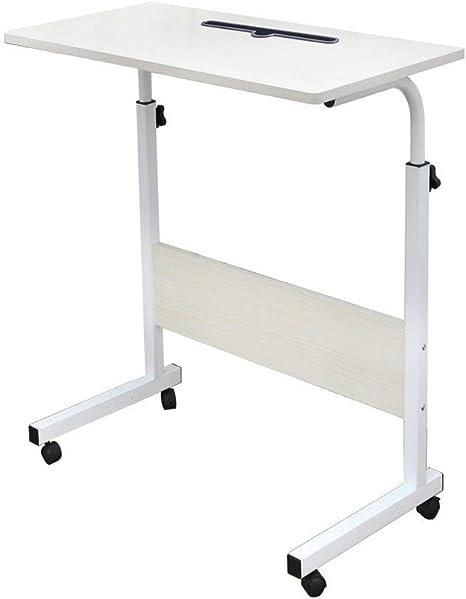 60x40cm... soges Laptoptisch Beistelltisch höhenverstellbarer Tisch mit Rollen