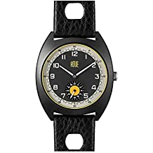 Roue SSD Two with Seconds Sub dial, 1960s Racing Style, 41.5mm Sand Blasted Black PVD case, Soft Leather + Nylon Front/Leather Back Straps, Sapphire Crystal with Anti-Reflective Treatment Glass