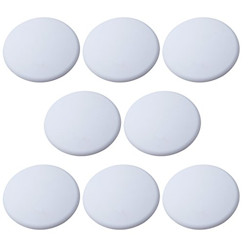 Outus Door Knob Wall Protector Shield Plates Round White Self Adhesive Wall Guards Stopper Door Handle Bumper Rubber Stop, 8 Pieces (3.15 Inch)
