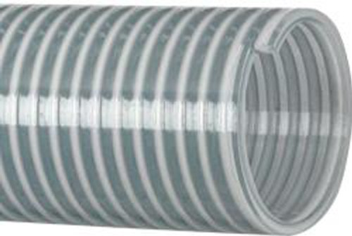 Kanaflex Flexible PVC Heavy Duty Water Suction and Discharge Hose, Clear, 1'' Hose ID, 1.25'' Hose OD, 100' Length by Kanaflex (Image #1)