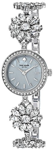 kate spade new york Women's Daisy Chain Analog-Quartz Watch with Stainless-Steel Strap, Silver, 0.6 (Model: KSW1315)