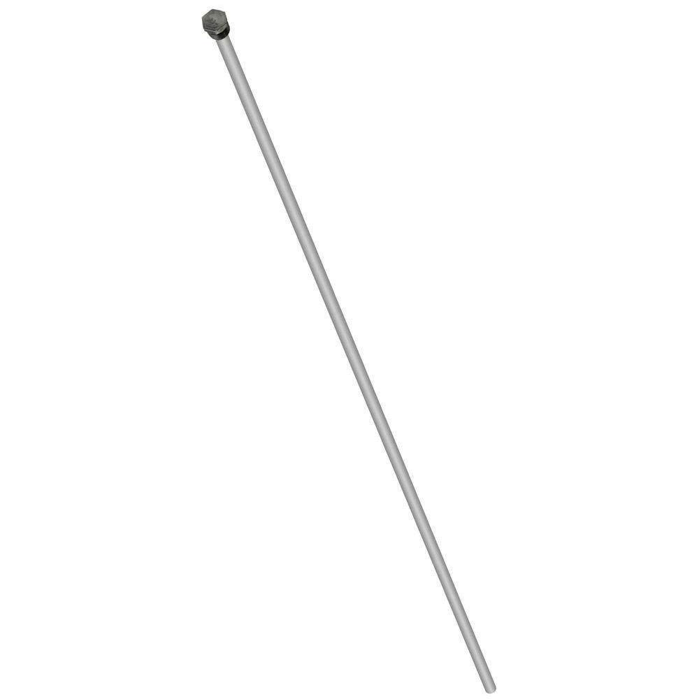Aluminum Zinc Hex Head Anode Rod (.800'' x 3/4'' x 44'') - Stops Rotten Egg Smelly Water! by The Water Connection