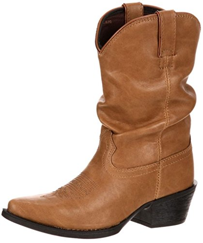 Durango Boot Girls' DBT0108 8'' Slouch,Sand Synthetic,US 2.5 M by Durango (Image #1)