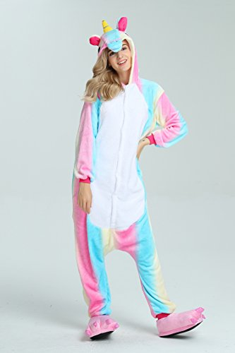 Taiyi Homewear Childrens Unicorn Plush One Piece Onesie Cosplay Animal Costume (12Yrs(height 59''-63''/150cm-160cm), Rainbow Flying Horse) by Taiyi (Image #4)