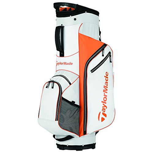 TaylorMade 2017 Golf Bag TM Cart Bag 5.0 WhtOrg, White/Orange