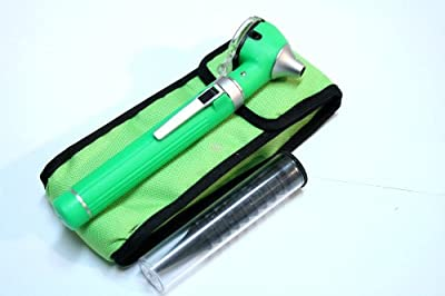 Green Fiber Optic Otoscope Mini Pocket Medical Ent Diagnostic Set