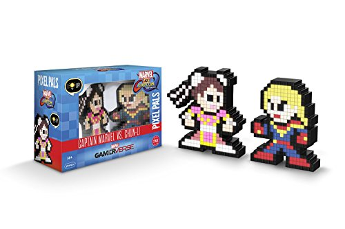 PDP Pixel Pals Marvel vs. Capcom Infinite Captain Marvel vs. Chun Li Collectible Figure 2 Pack, 878-042-NA-MvC1