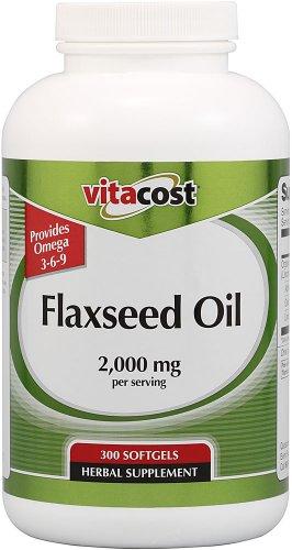 Vitacost Flaxseed Oil -- 2,000 mg per serving - 300 Softgels