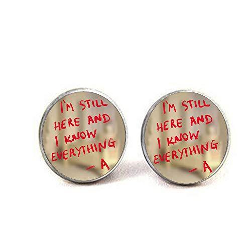 Pretty little liars logo Copper Chain Women Choker Statement Earrings Earrings]()