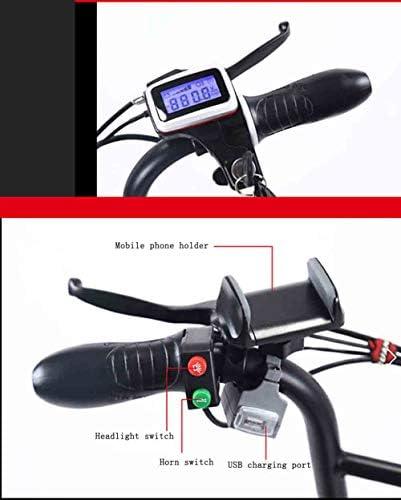 Adobe abs Scooter Électrique, Planche À roulettes Électrique Pliable Alliage d'Aluminium Batterie Au Lithium Rechargeable 48V Freins à Double Disque avec Lumière Charge maximale est de 150 kg