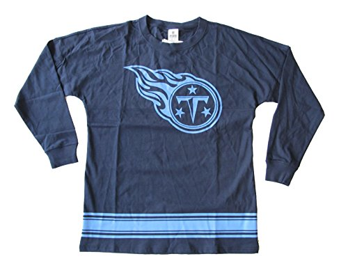 Victoria's Secret PINK Tennessee Titans Crewneck Pullover Sweatshirt Navy Blue (X-Small) (Victorias Secret Slouchy Crew)