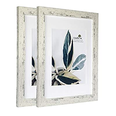 Scholartree Wooden Picture Frame Wooden Photo Frame for Wall or Tabletop with Mat (White Crack Wood Grain,11x14 inches 2P) - ELEGANT DESIGN: 5x7 inches Yellow and Brown Picture Frame made to display 4x6 inches pictures with Mat or 5x7 inch Without Mat. Hanging hardware included for vertical or horizontal wall display.A set has 3 photo frames for convenient and affordable. HIGHEST QUALITY MATERIAL: Ideal for photos sized 5x7 inches without the Mat and 4x6 inches with the Mat. The frame includes built-in metal tabs for easy access to display your photos, cards and memories. ATTRACTIVE LOOK: White coloured mat keeps photos and artwork looking great for years. Turn your portraits, artful prints and everyday shots into a spectacular display. The actual mat opening is designed to hold a 4x6 inch photo in place. We recommend taping the photo to the back of the mat. - picture-frames, bedroom-decor, bedroom - 41Qh5aOMhPL. SS400  -