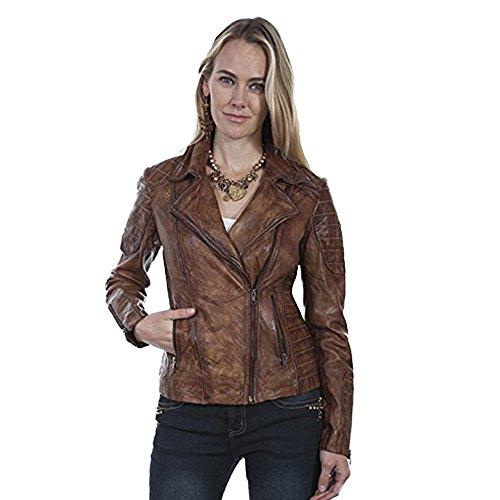 Scully Women's Rabia Ladies Leather Jacket Tan Medium