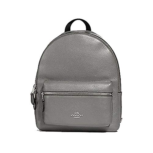 Coach Pebbled Leather Medium Charlie Backpack Tote (Grey)