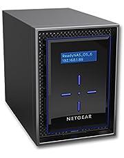 Netgear Rn422D2-100Nes 400Er Serie Rn31200-100Eus Readynas 312 Nas-Systeem 2-Bay Desktop, Intel Atom D270X, 2.1Ghz, 2Gb Ram, Diskless, 2X Usb 3.0, 4 Tb, Zwart