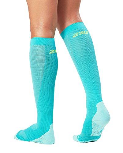 2XU Women's Compression Performance Run Socks, Ice Green/Ice Green, X-Small by 2XU (Image #1)