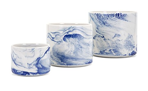 Imax Willow Faux Marble Planters-Set of 3 Medium Vase