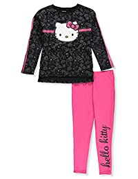 Hello Kitty Girls' 2-Piece Leggings Set Outfit