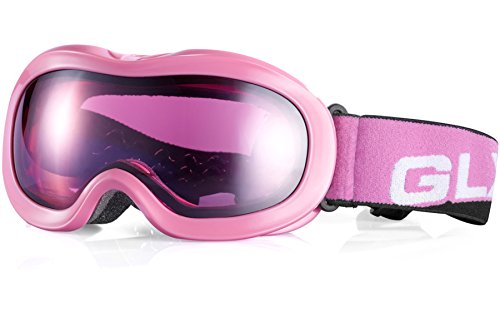 GLX Ski, Snowboard, Snowmobile, Snow, Interchangeable Goggles for Youth Kids Boys Girls UV 400 Protection Helmet Compatible Safe Eyewear by GLX